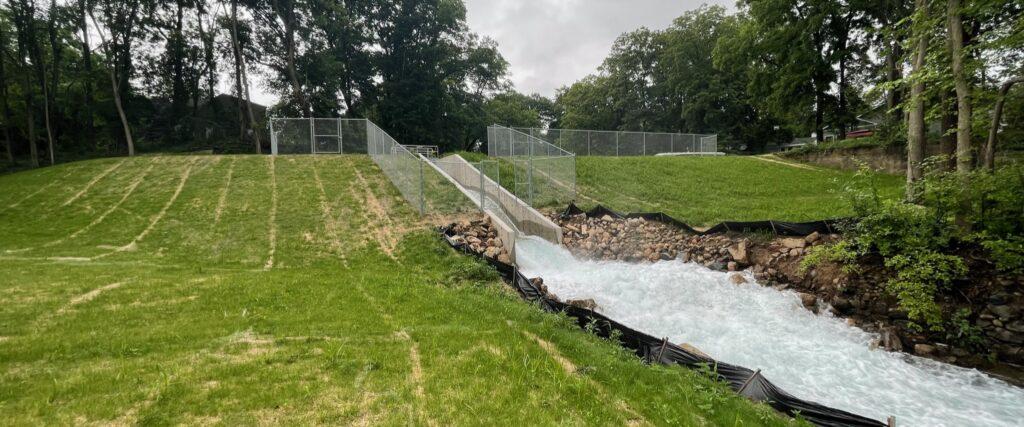 The New Gull Lake Dam
