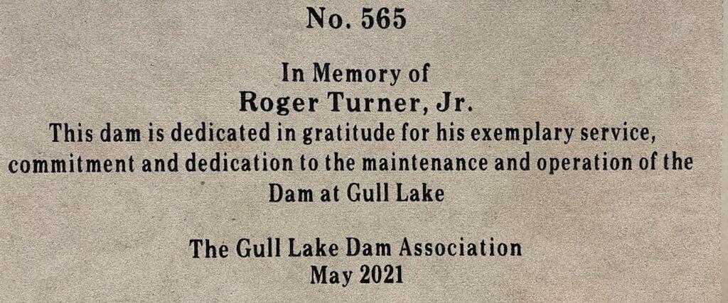 Roger Turner Jr. Dedication Stone